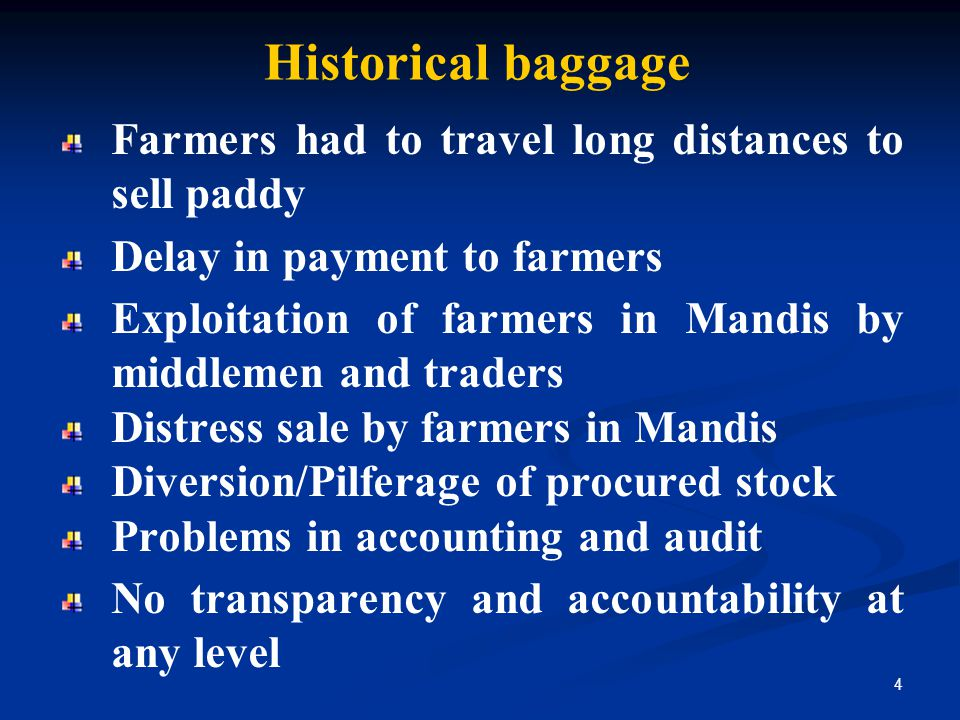 Historical baggage Farmers had to travel long distances to sell paddy