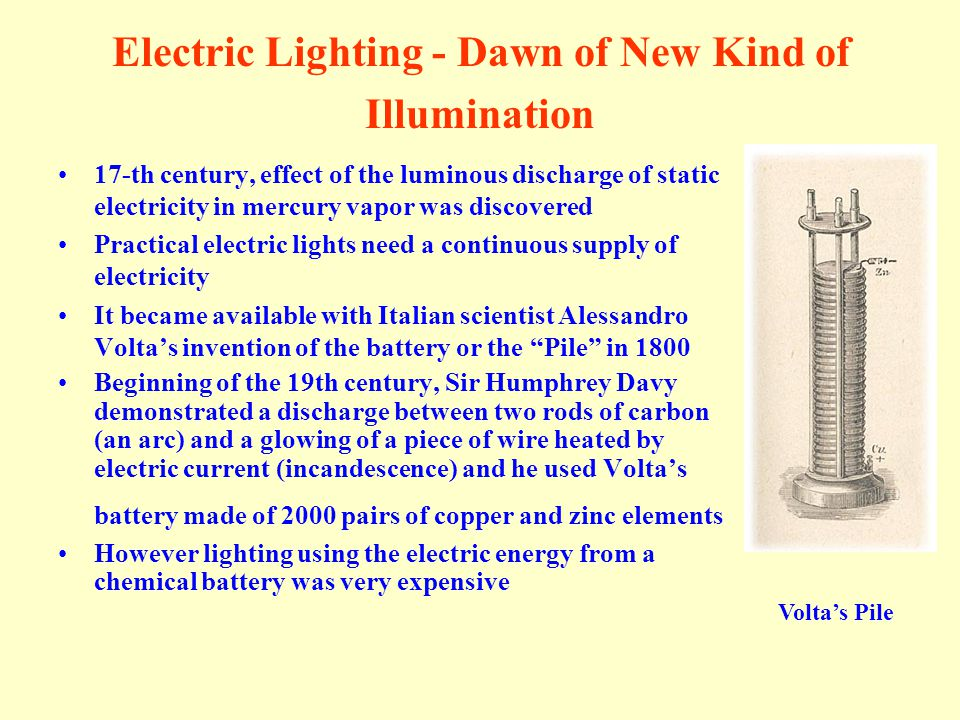 Electric Lighting - Dawn of New Kind of Illumination