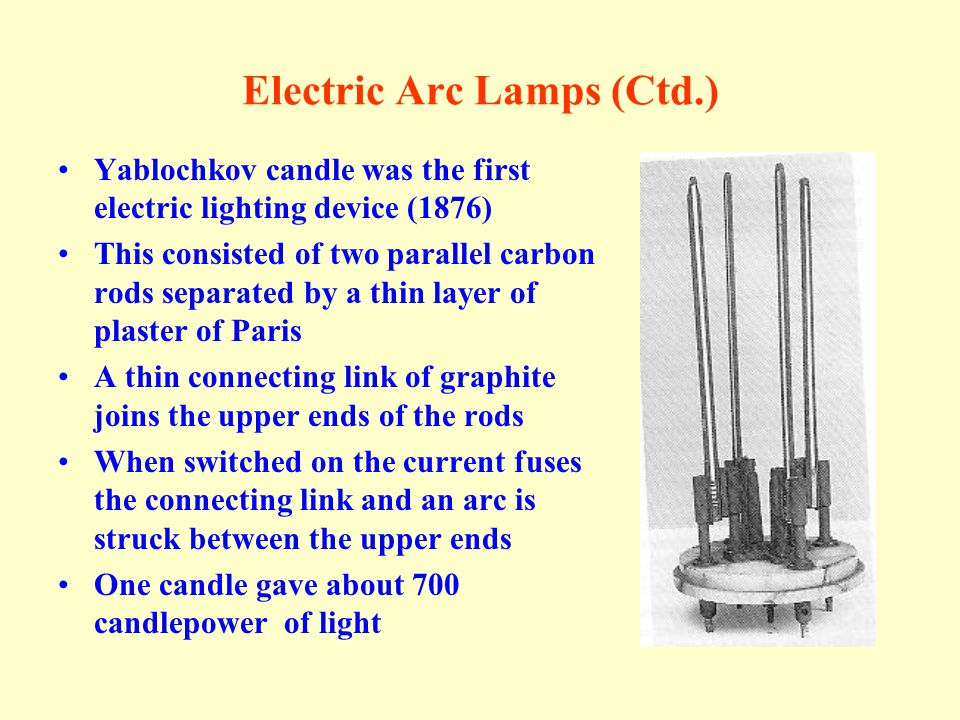 Electric Arc Lamps (Ctd.)