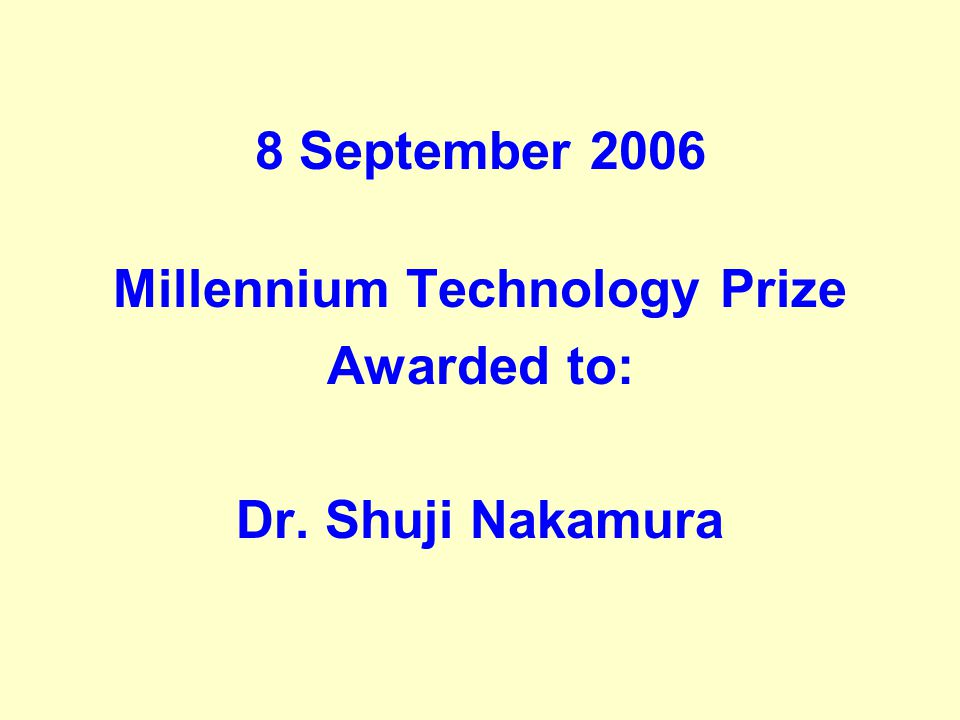 Millennium Technology Prize
