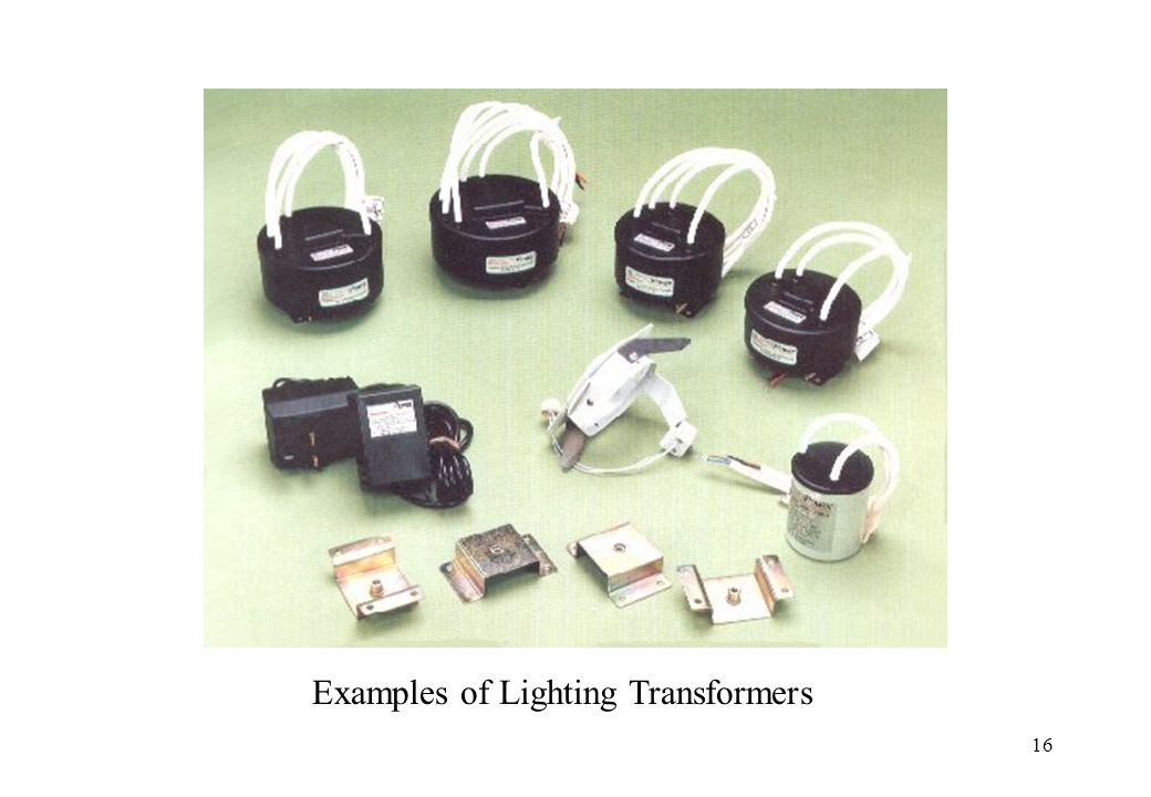 Examples of Lighting Transformers