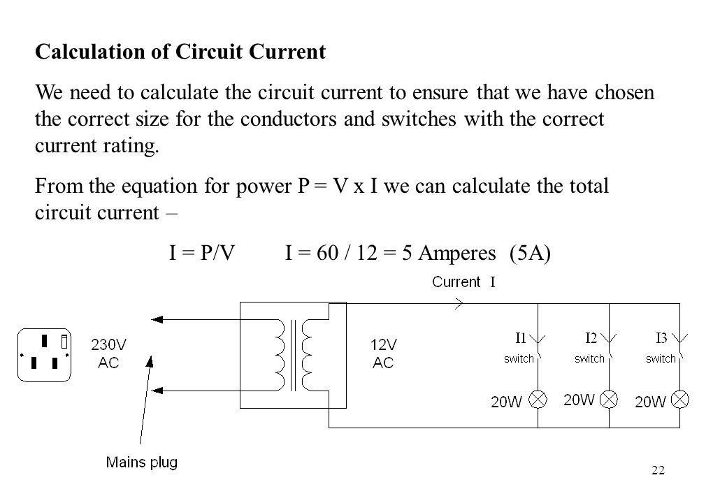 Calculation of Circuit Current