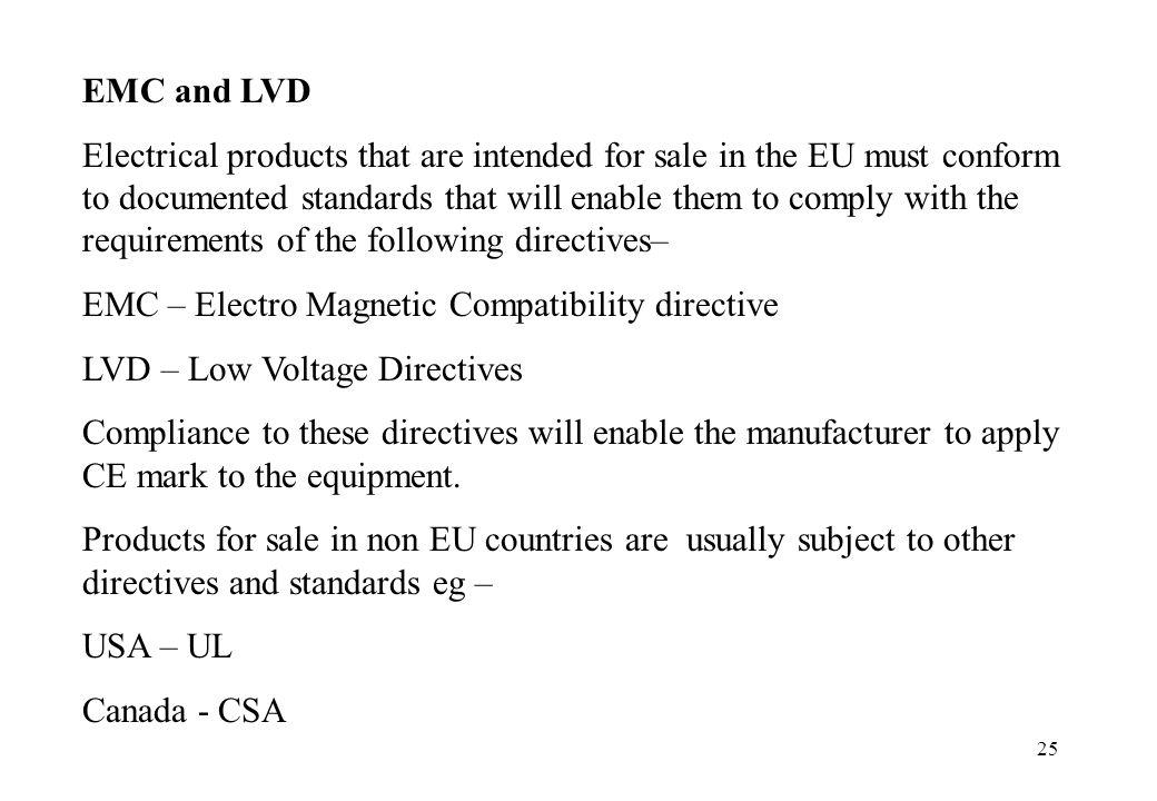 EMC and LVD