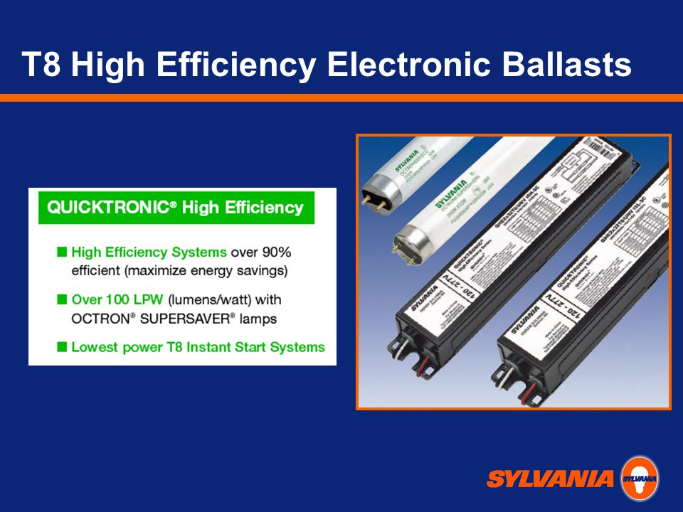 T8 High Efficiency Electronic Ballasts