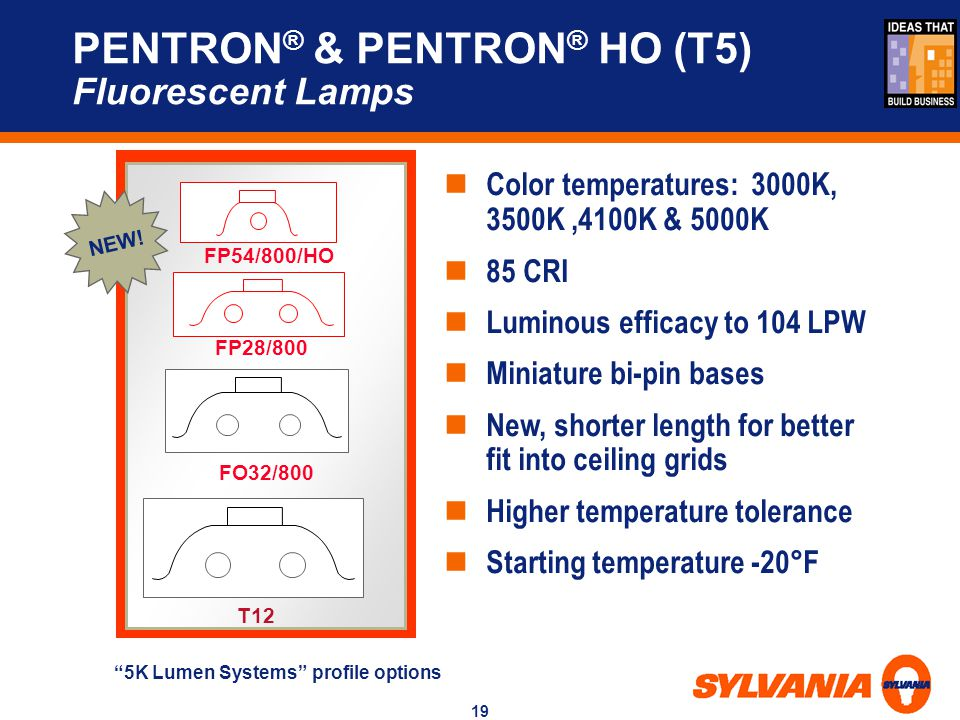 PENTRON® & PENTRON® HO (T5) Fluorescent Lamps