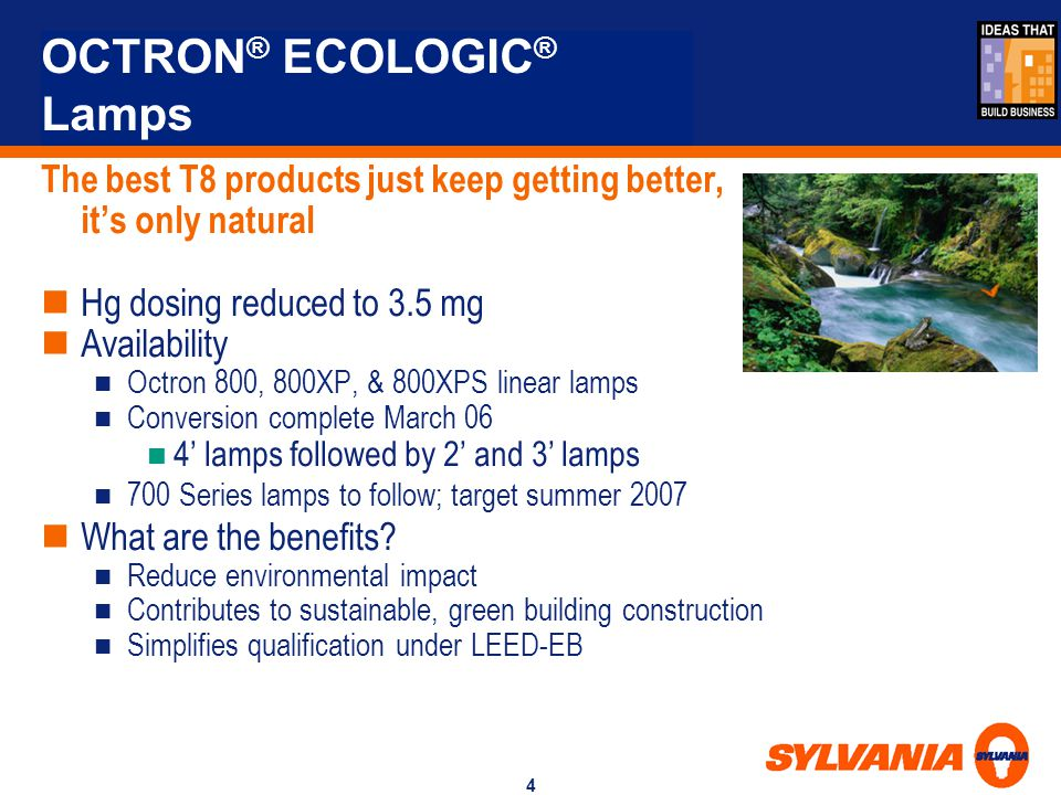 OCTRON® ECOLOGIC® Lamps