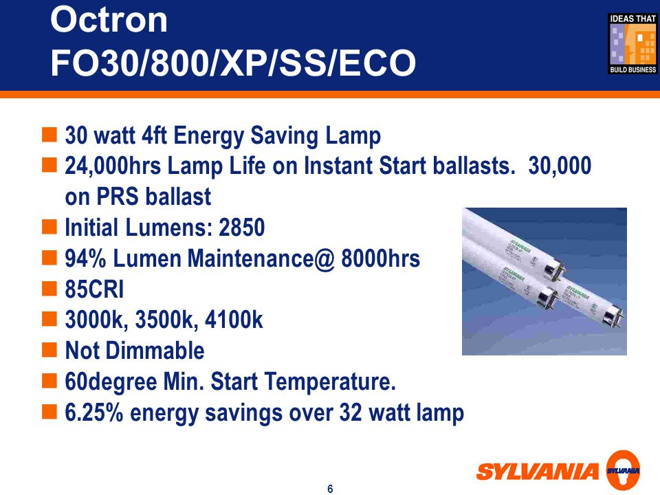 Octron FO30/800/XP/SS/ECO 30 watt 4ft Energy Saving Lamp