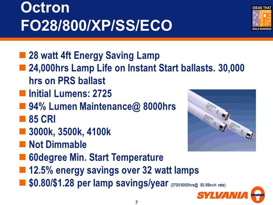 Octron FO28/800/XP/SS/ECO 28 watt 4ft Energy Saving Lamp