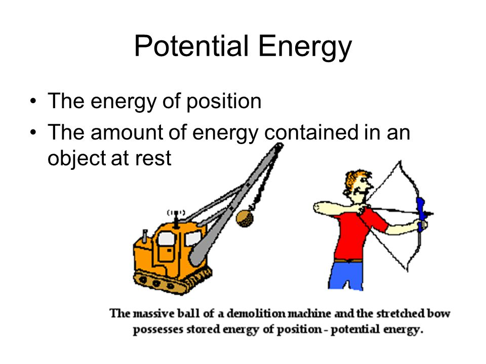 Potential Energy The energy of position