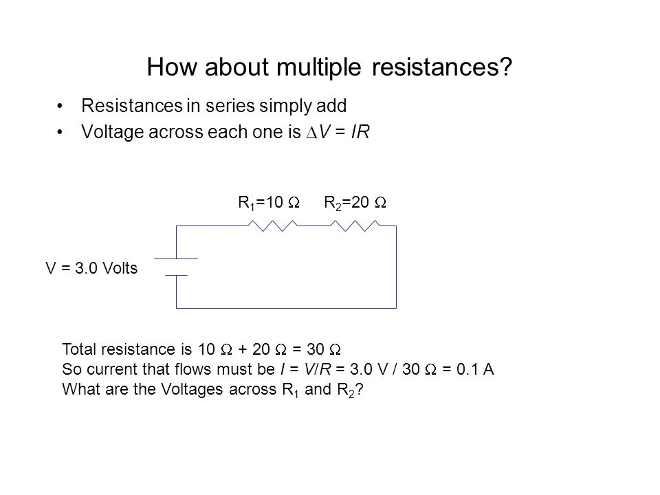 How about multiple resistances