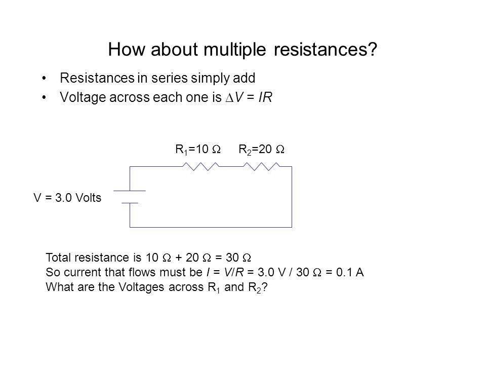 How about multiple resistances