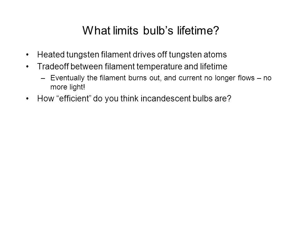 What limits bulb's lifetime
