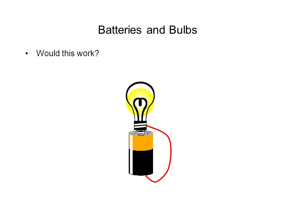 Batteries and Bulbs Would this work