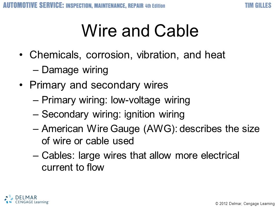 Wire and Cable Chemicals, corrosion, vibration, and heat