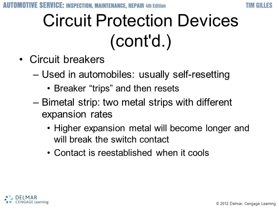 Circuit Protection Devices (cont d.)