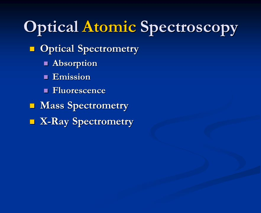 Optical Atomic Spectroscopy