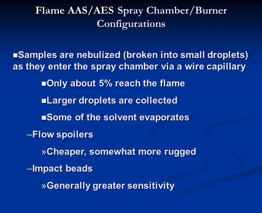 Flame AAS/AES Spray Chamber/Burner Configurations