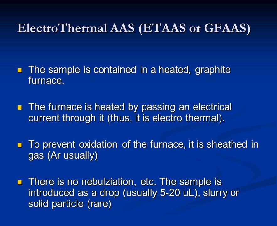 ElectroThermal AAS (ETAAS or GFAAS)