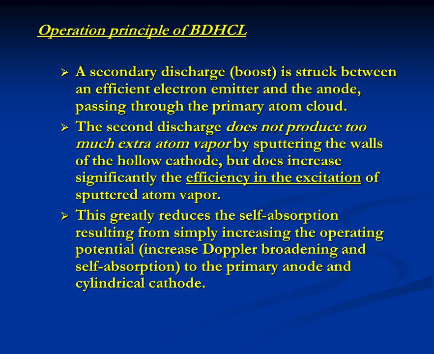 Operation principle of BDHCL