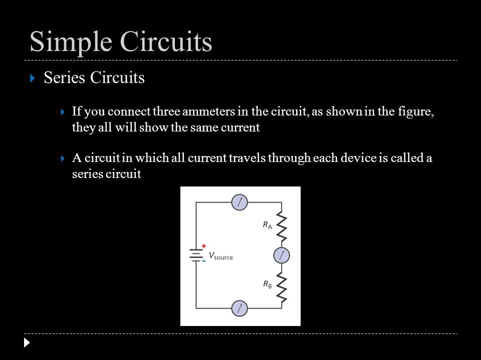 Simple Circuits Series Circuits