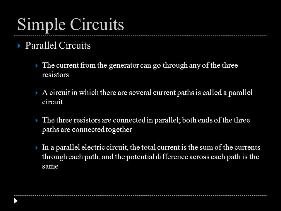 Simple Circuits Parallel Circuits