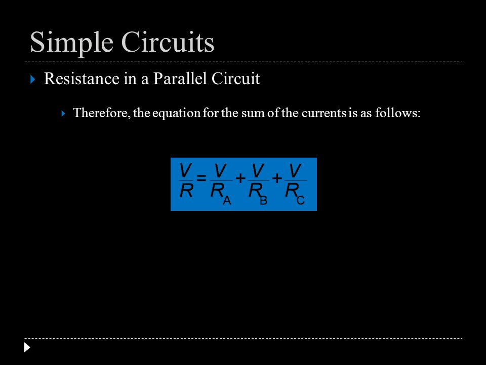 Simple Circuits Resistance in a Parallel Circuit