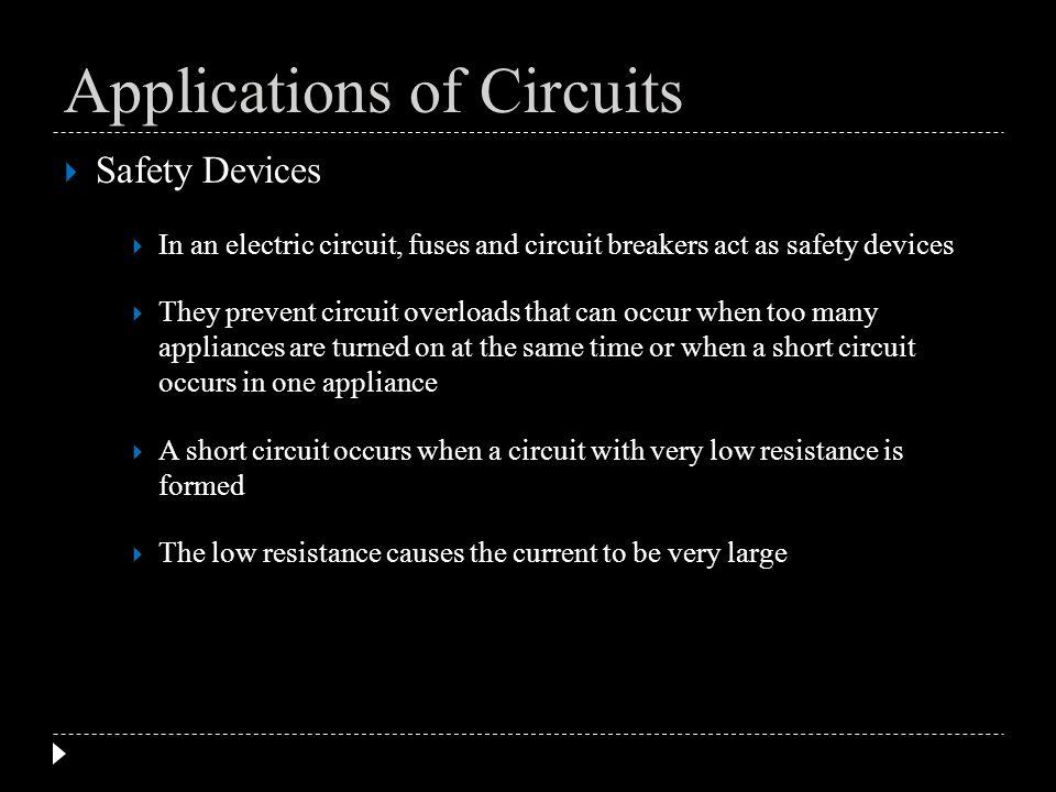 Applications of Circuits