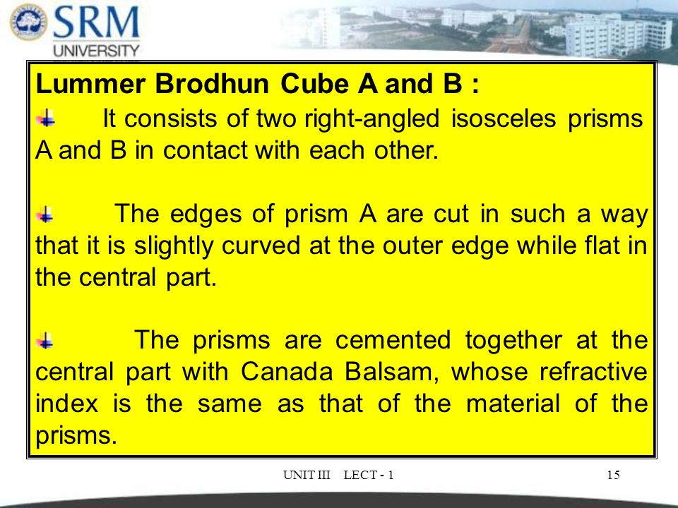 Lummer Brodhun Cube A and B :
