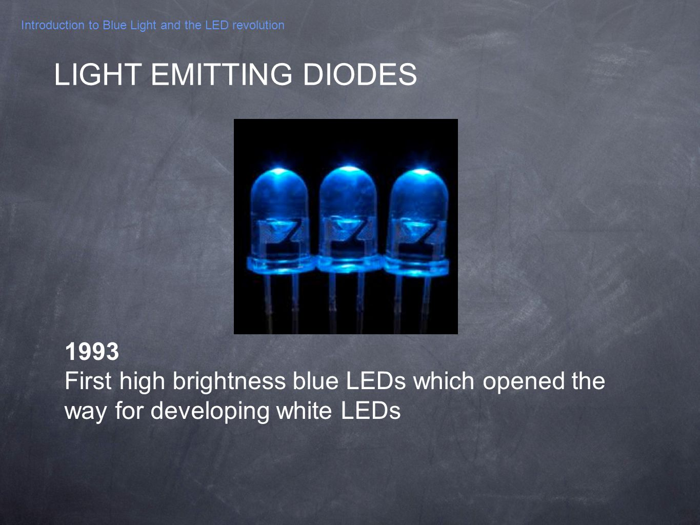 Introduction to Blue Light and the LED revolution