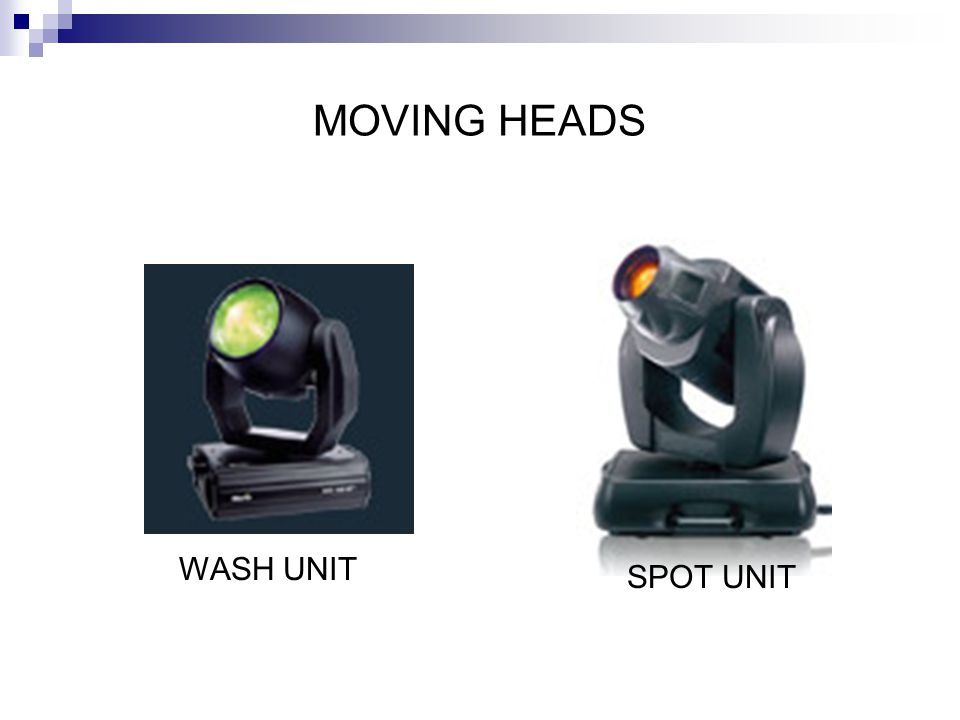 MOVING HEADS WASH UNIT SPOT UNIT