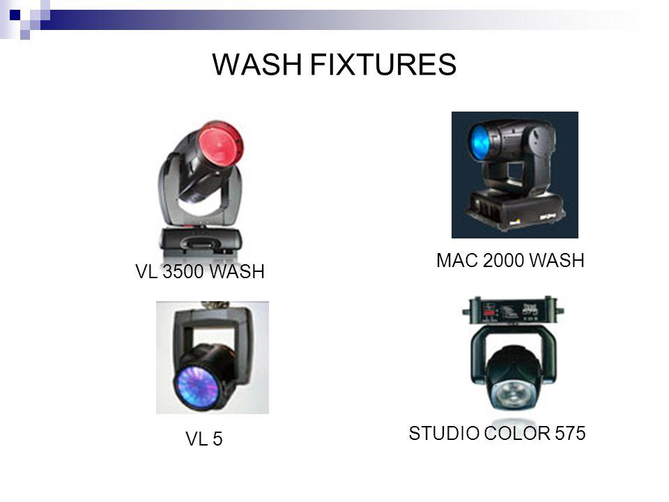 WASH FIXTURES MAC 2000 WASH VL 3500 WASH STUDIO COLOR 575 VL 5