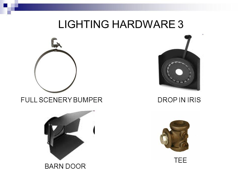 LIGHTING HARDWARE 3 FULL SCENERY BUMPER DROP IN IRIS TEE BARN DOOR