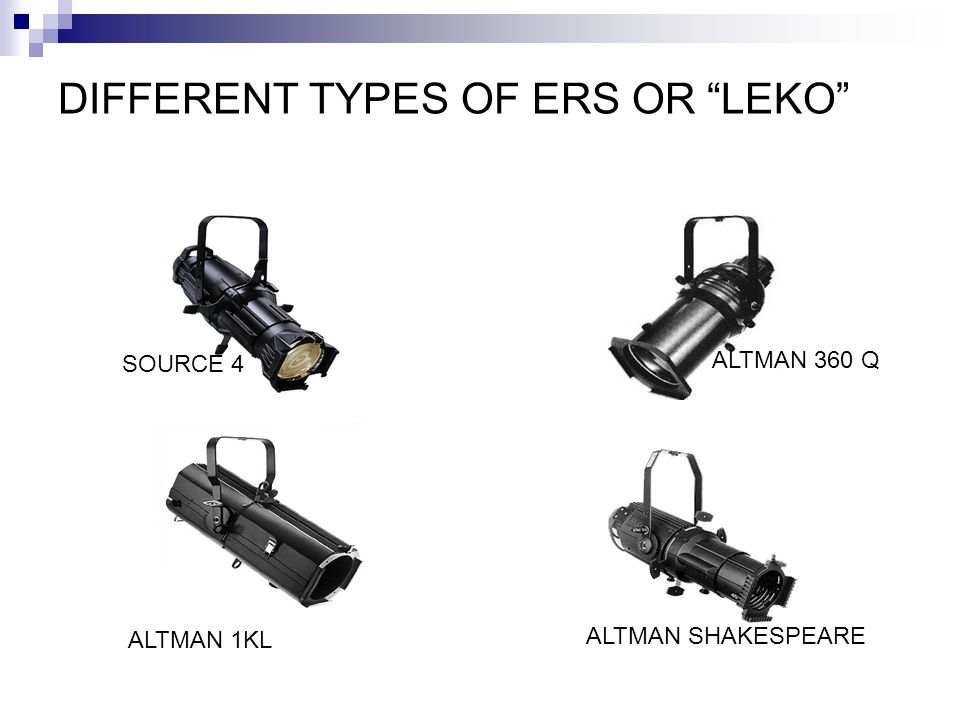 DIFFERENT TYPES OF ERS OR LEKO