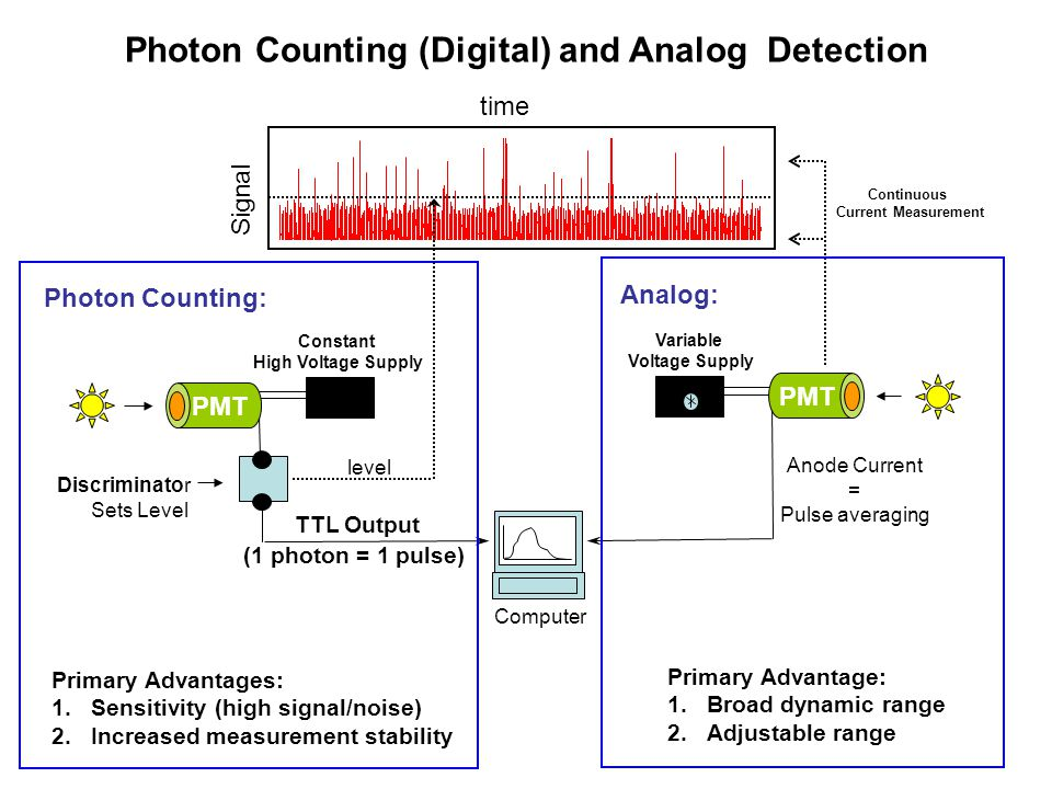 Photon Counting (Digital) and Analog Detection
