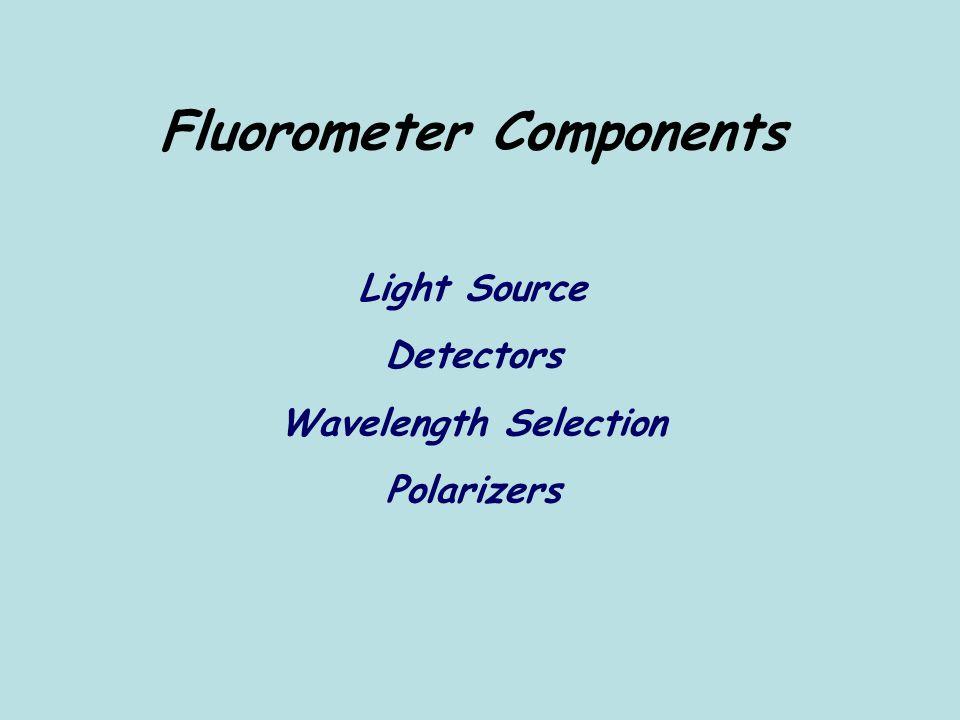Fluorometer Components