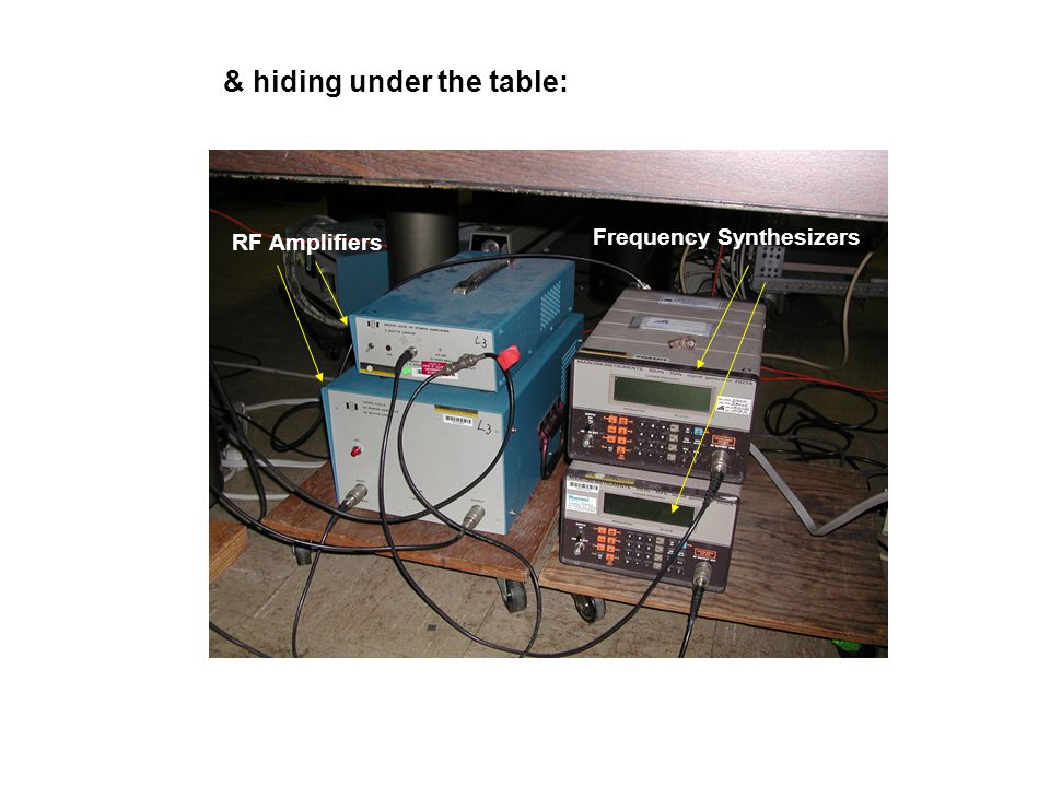 & hiding under the table: