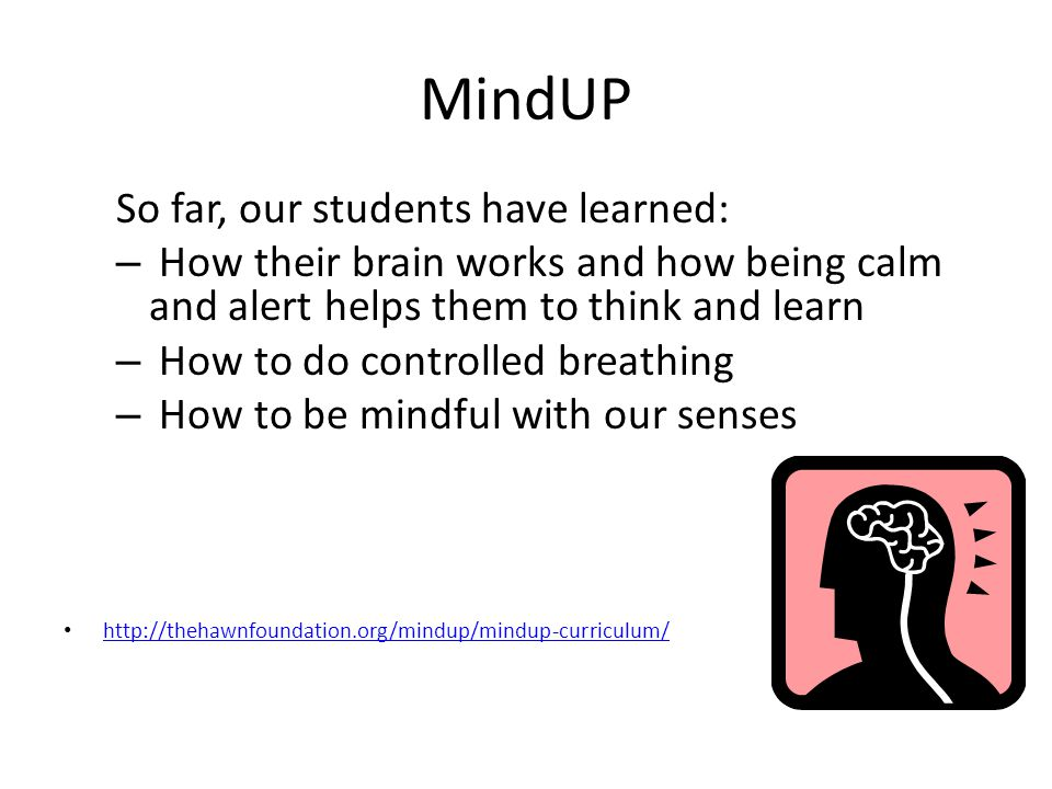 MindUP So far, our students have learned: