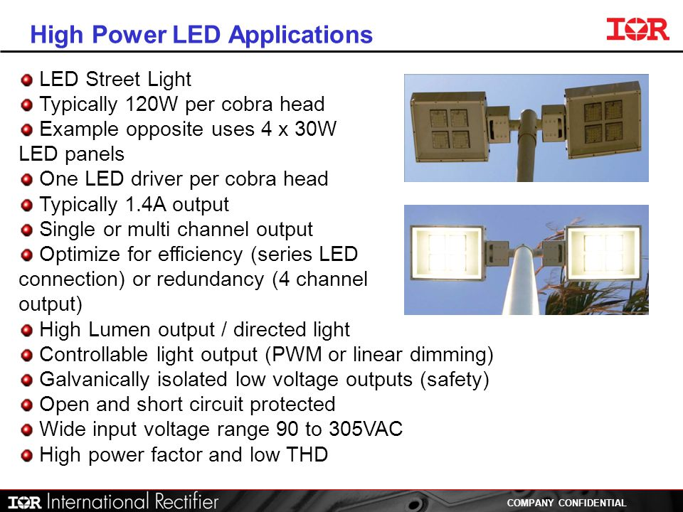 High Power LED Applications