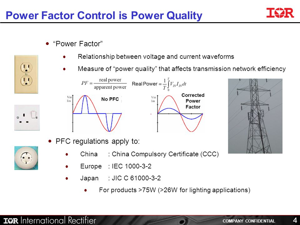 power factor and current relationship status