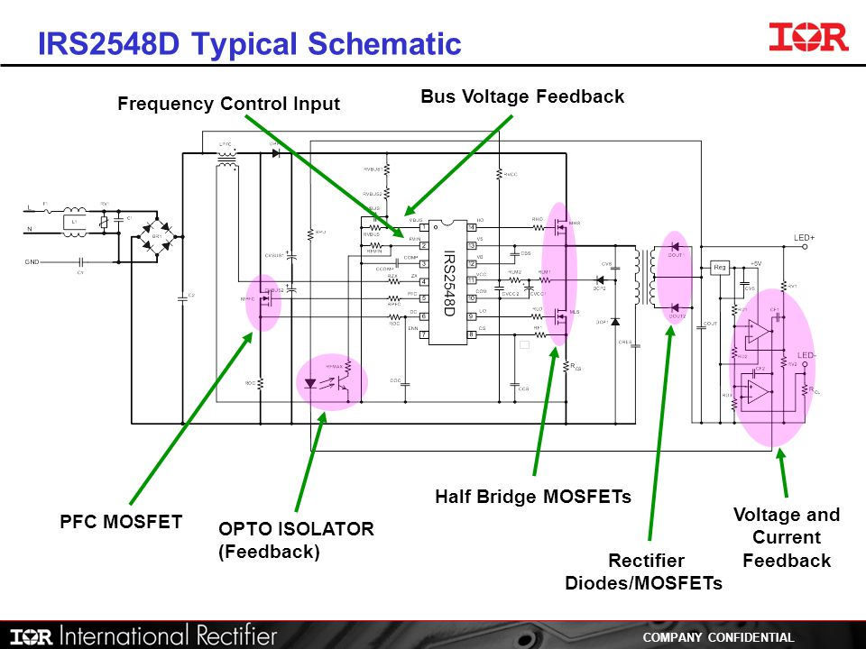 IRS2548D Typical Schematic
