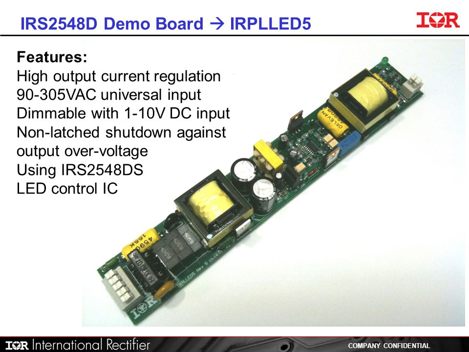 IRS2548D Demo Board  IRPLLED5