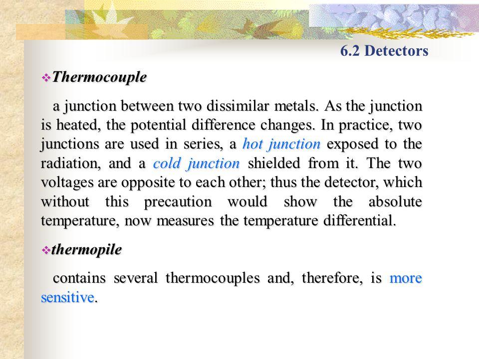 6.2 Detectors Thermocouple.