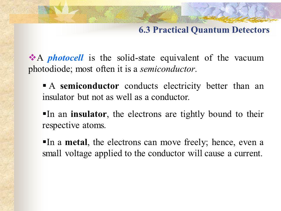 6.3 Practical Quantum Detectors
