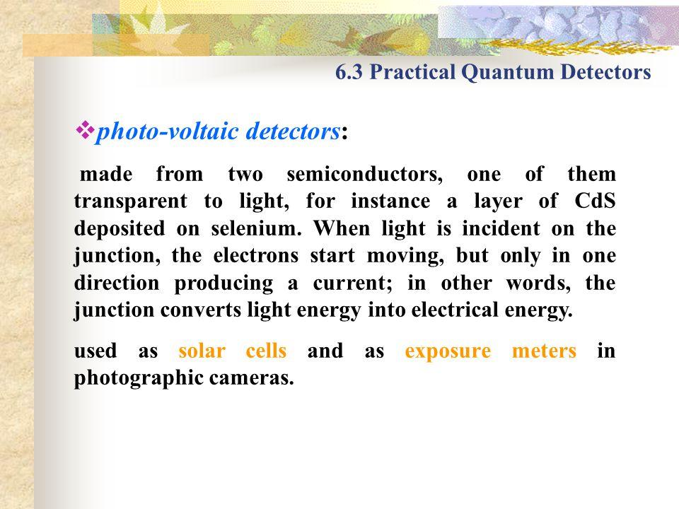 photo-voltaic detectors: