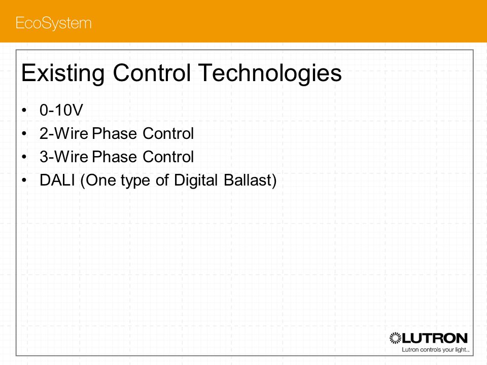 Existing Control Technologies