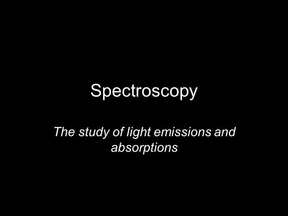 The study of light emissions and absorptions