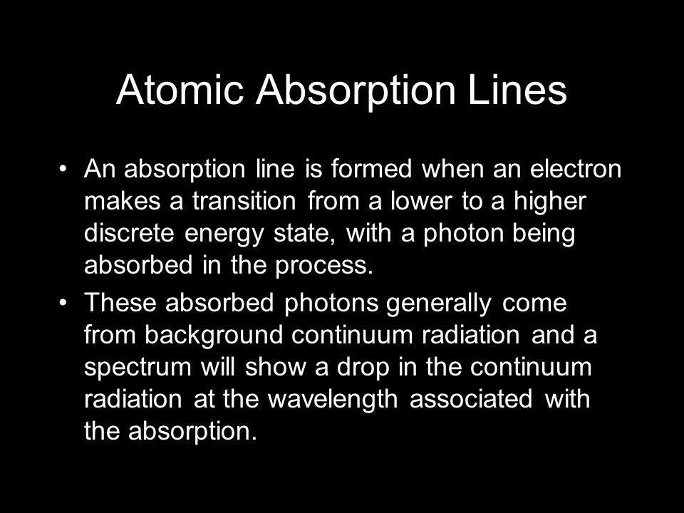 Atomic Absorption Lines