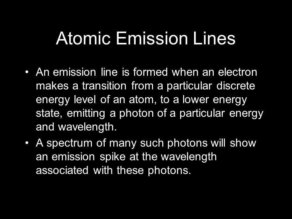 Atomic Emission Lines