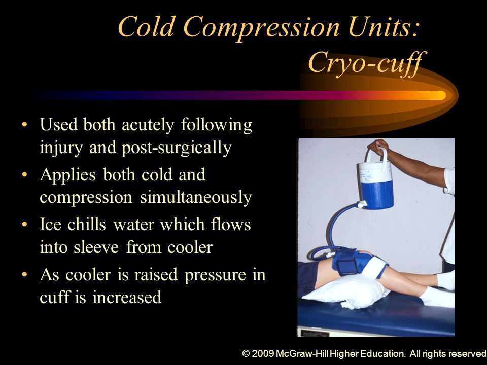 Cold Compression Units: Cryo-cuff