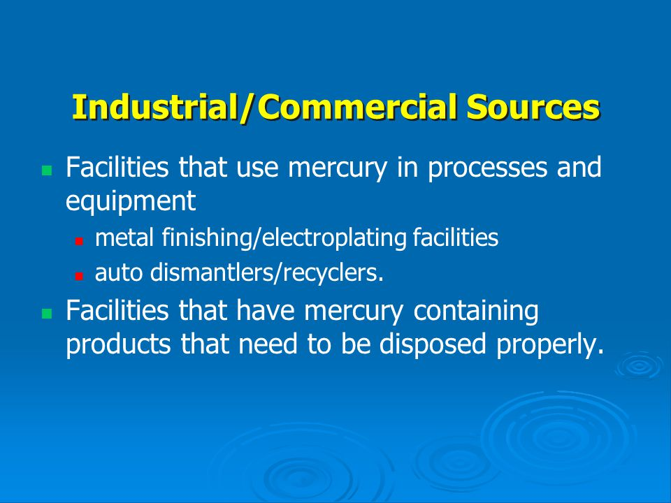 Industrial/Commercial Sources